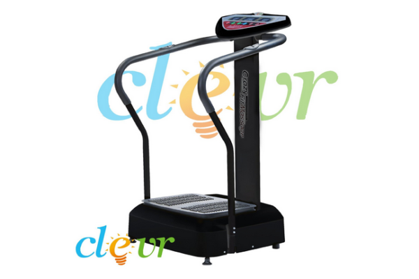Black Pro 1000w Crazy Fit FullBody Vibe Massage Machine Platform Massage Fitness