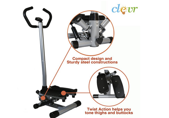 NEW Clevr Twister Stepper Step Machine Cardio Training Exercise Stair Climber Review